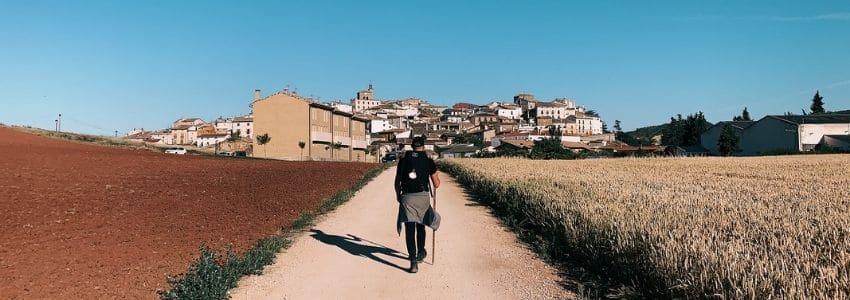 Mand der går Caminoen