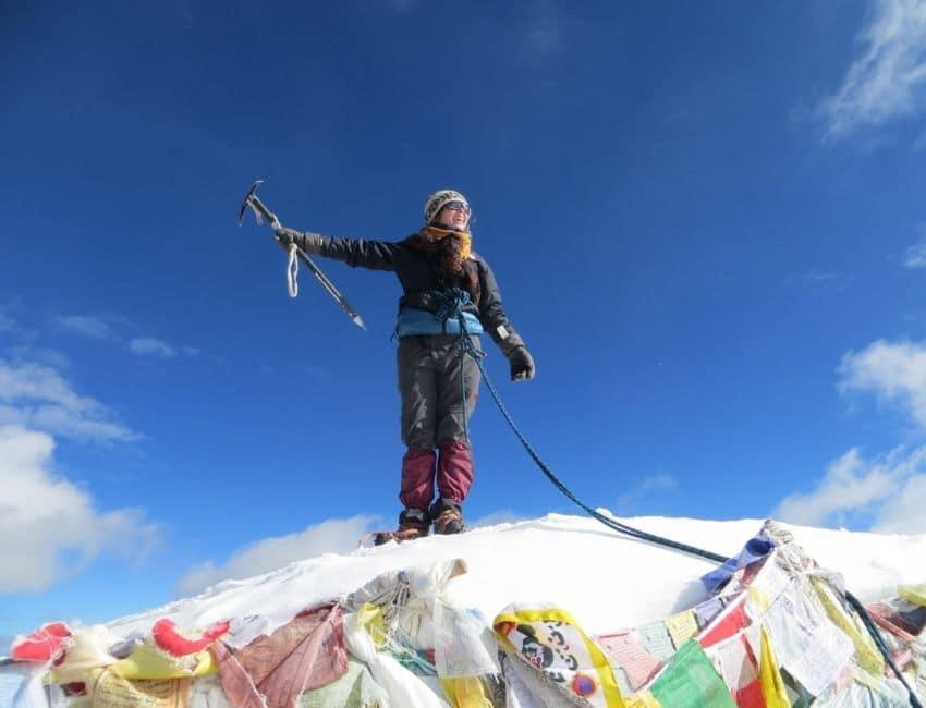 Line Skov på toppen af Mount Everest Base Camp