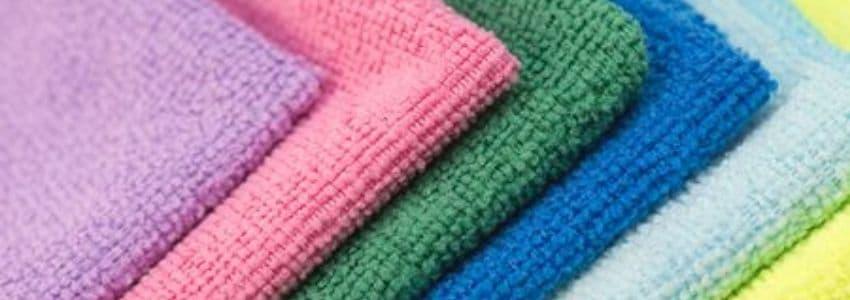 Flerefarvede microfiber håndklæde