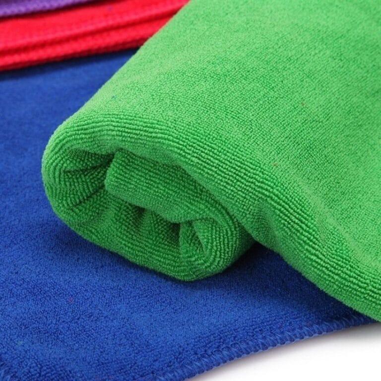 Grøn microfiber håndklæde
