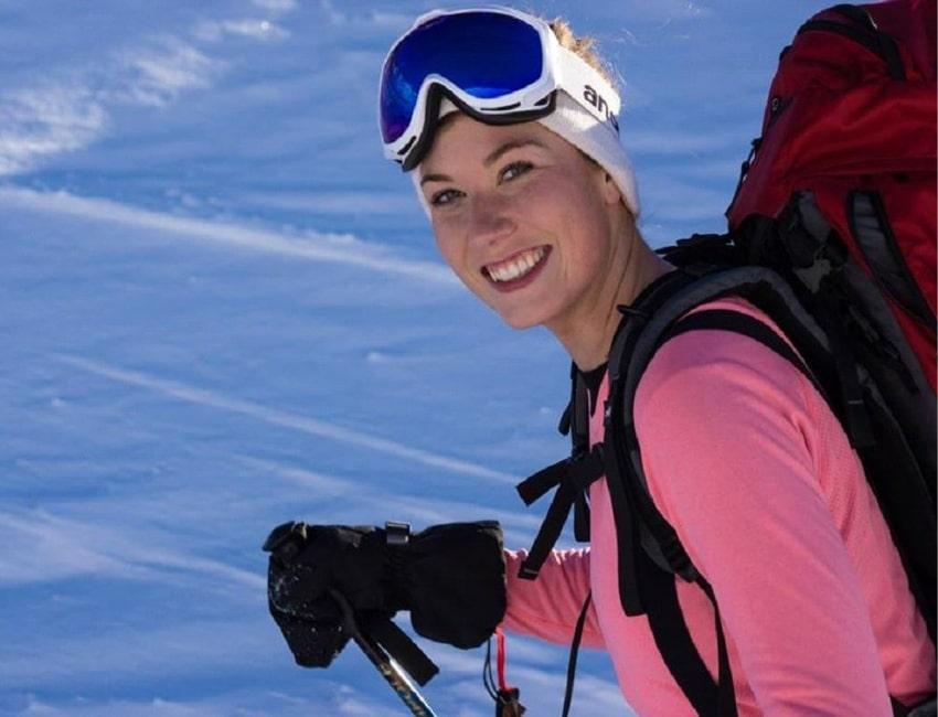 Signe Nørager på ski