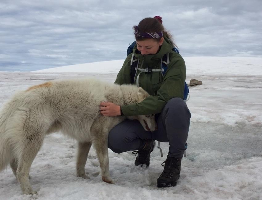 Signe Nørager på Grønland