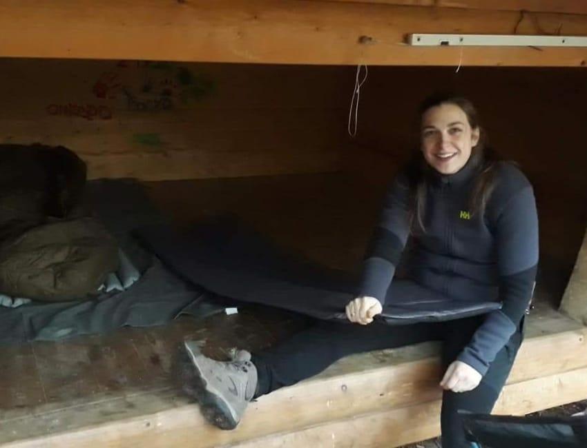 Simone Jensen på sheltertur