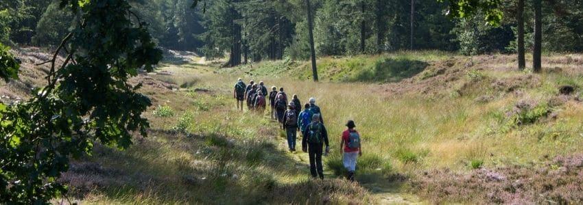Personer på vandreture Jylland