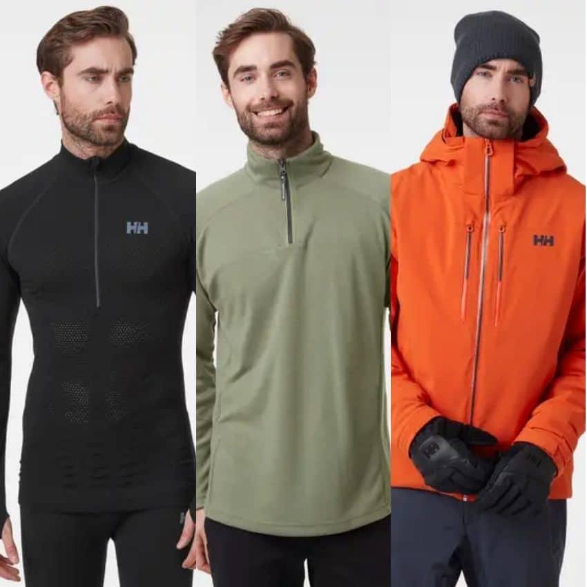Mand med tøj på til vinterfriluftsliv